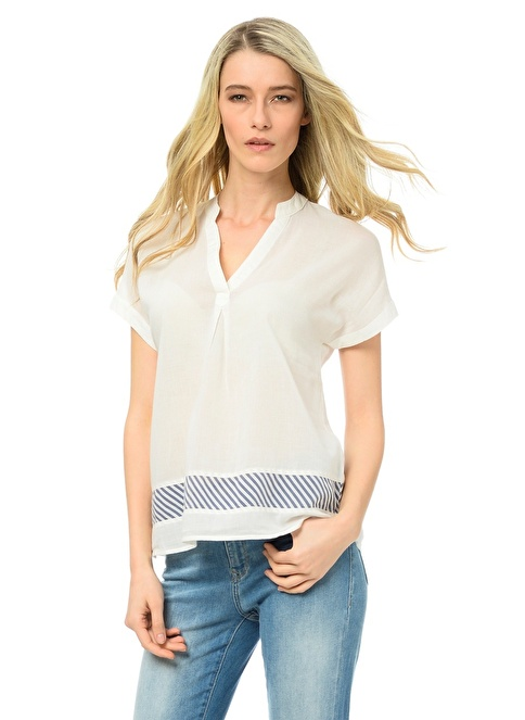 Mavi Bluz | Regular Fit Beyaz
